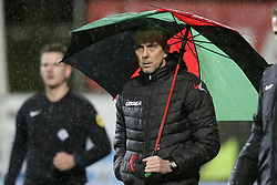 coach Adrie Bogers of NEC during the Jupiler League match between Telstar and NEC Nijmegen at the Tata steel stadium on November27, 2017 in Velsen-Zuid, The Netherlands