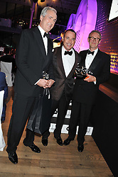 Left to right, JEREMY KING, DAVID FURNISH and CHRIS CORBIN at the GQ Men of The Year Awards 2012 held at The Royal Opera House, London on 4th September 2012.