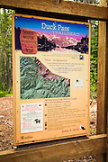 Trailhead signs, John Muir Wilderness, California USA