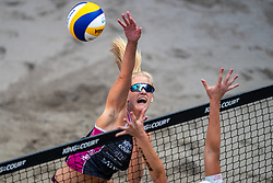 Alexia Richard FRA in action during the third day of the beach volleyball event King of the Court at Jaarbeursplein on September 11, 2020 in Utrecht.