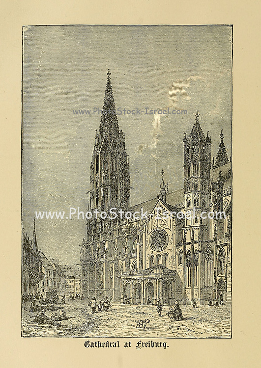 Cathedral at Freiburg [Freiburg im Breisgau], Baden-Württemberg, Germany From ' The pictorial Catholic library ' containing seven volumes in one: History of the Blessed Virgin -- The dove of the tabernacle -- Catholic history -- Apparition of the Blessed Virgin -- A chronological index -- Pastoral letters of the Third Plenary. Council -- A chaplet of verses -- Catholic hymns  Published in New York by Murphy & McCarthy in 1887