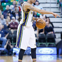 27 January 2016: Utah Jazz guard Erick Green (18) sets the offense during the Utah Jazz 102-73 victory over the Charlotte Hornets, at the Vivint Smart Home Arena, Salt Lake City, Utah, USA.