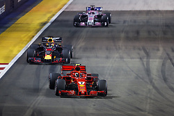September 16, 2018 - Singapore, Singapore - Motorsports: FIA Formula One World Championship 2018, Grand Prix of Singapore, .#7 Kimi Raikkonen (FIN, Scuderia Ferrari), #3 Daniel Ricciardo (AUS, Aston Martin Red Bull Racing) (Credit Image: © Hoch Zwei via ZUMA Wire)