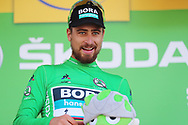 Podium, Peter Sagan (SVK - Bora - Hansgrohe) Green jersey is honored in the green jersey, as leader in the points classificationduring the 105th Tour de France 2018, Stage 16, Carcassonne - Bagneres de Luchon (218 km) on July 24th, 2018 - Photo George Deswijzen / Pro shots / ProSportsImages / DPPI