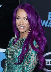 2017 BET Awards. 25 Jun 2017 Pictured: Sasha Banks. Photo credit: Jaxon / MEGA TheMegaAgency.com +1 888 505 6342