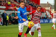 *** during the Ladbrokes Scottish Premiership match between Hamilton Academical FC and Rangers at The Hope CBD Stadium, Hamilton, Scotland on 24 February 2019.