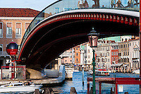 Italy, Venice. Ponte della Costituzione, the fourth bridge over the Grand Canal