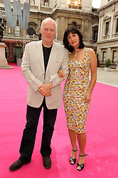 DAVID GILMOUR and POLLY SAMSON at the Royal Academy of Arts Summer Party held at Burlington House, Piccadilly, London on 9th June 2010.