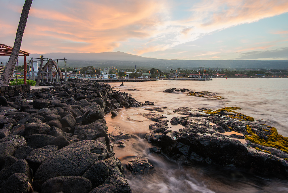 The shore in Kona, Big Island, Hawaii, USA. Photo © William Drumm, 2013.