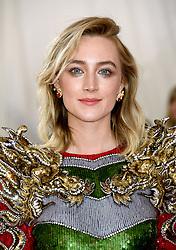 Saoirse Ronan attending the Metropolitan Museum of Art Costume Institute Benefit Gala 2019 in New York, USA.