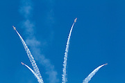 "The U.S. air force ""Thunderbirds"" aerobatic team"