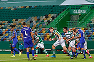 Sebastián Coates with no time to celebrate during the Liga NOS match between Sporting Lisbon and Belenenses SAD at Estadio Jose Alvalade, Lisbon, Portugal on 21 April 2021.