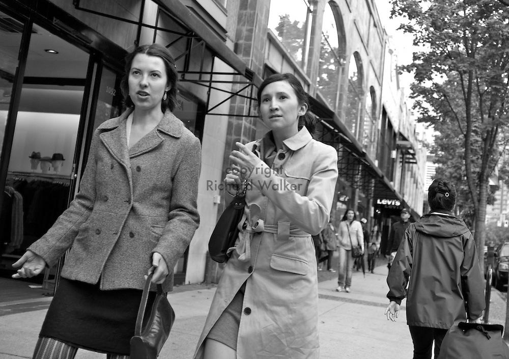 2011 September 25 - Women, Robson Street, Vancouver, BC, Canada. Copyright Richard Walker