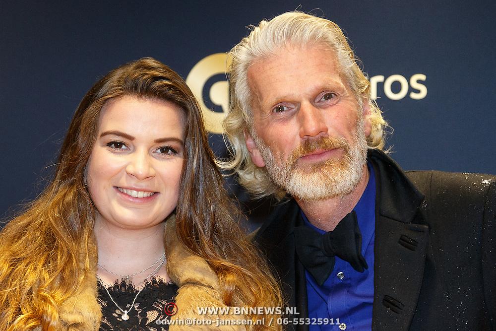 NLD/Amsterdam/20151015 - Televiziergala 2015, Rob Snoek en dochter