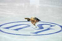 KELOWNA, BC - OCTOBER 26: Canadian figure skater Veronik Mallet competes during ladies long program of Skate Canada International held at Prospera Place on October 26, 2019 in Kelowna, Canada. (Photo by Marissa Baecker/Shoot the Breeze)