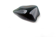 Cutout of a Bloodstone gemstone on white background
