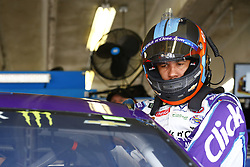 April 6, 2018 - Ft. Worth, Texas, United States of America - April 06, 2018 - Ft. Worth, Texas, USA: Darrell Wallace, Jr (43) straps into his car to practice for the O'Reilly Auto Parts 500 at Texas Motor Speedway in Ft. Worth, Texas. (Credit Image: © Chris Owens Asp Inc/ASP via ZUMA Wire)