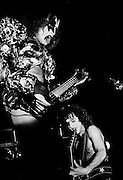 Photo of Gene Simmons and Paul Stanley  from the band Kiss Live in Rome - 1980