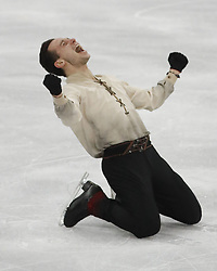 February 17, 2018 - Pyeongchang, KOREA - Alexei Bychenko of Israel after competing in the men's figure skating free skate program during the Pyeongchang 2018 Olympic Winter Games at Gangneung Ice Arena. (Credit Image: © David McIntyre via ZUMA Wire)