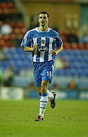 Photo: Aidan Ellis.<br /> Wigan Athletic v Arsenal. Carling Cup. Semi Final, 1st Leg.<br /> 10/01/2006.<br /> Wigan's Paul Scharner