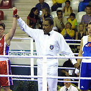 2. WOMEN'S WORLD BOXING CHAMPIONSHIPS.<br /> Turkey's Bakis Mehtap (R) with Sineskaya Irina (L). Dilek Sabanci Sport Hall Antalya/Turkey<br /> Photo by Aykut AKICI/TurkSporFoto