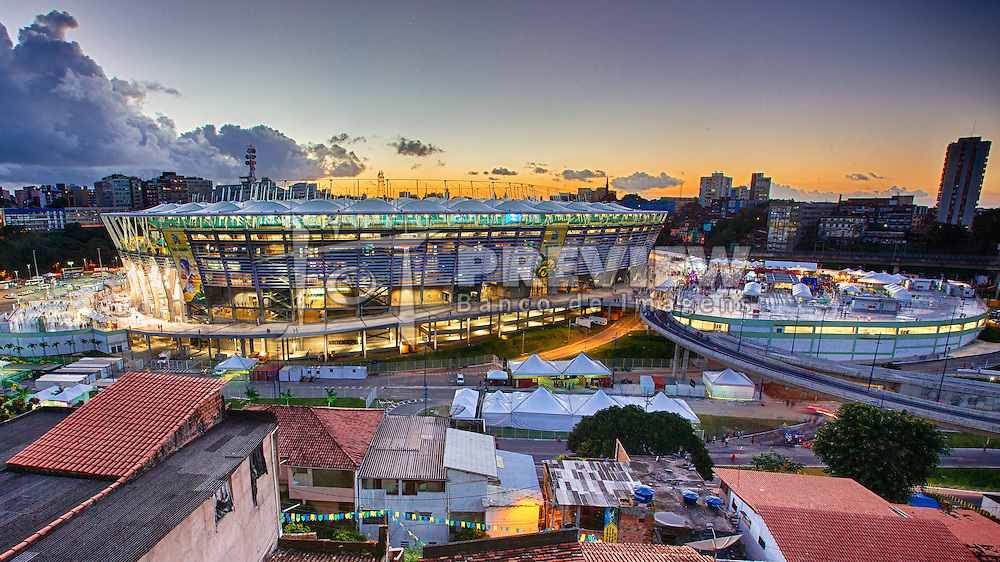 Complexo Esportivo Cultural Octávio Mangabeira ou Arena Fonte Nova é um estádio de futebol localizado em Salvador (Bahia), Brasil com capacidade para 48.747 pessoas em três níveis de arquibancadas com assentos cobertos. FOTO: Jefferson Bernardes/Preview.com