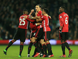 17 December 2016 - Premier League - West Bromwich Albion v Manchester United - Zlatan Ibrahimovic of Manchester United celebrates after scoring (0-2) - Photo: Paul Roberts / Offside.