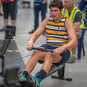 Max Roach MALE HEAVYWEIGHT U19 2K Race #6  09:45am<br /> <br /> <br /> www.rowingcelebration.com Competing on Concept 2 ergometers at the 2018 NZ Indoor Rowing Championships. Avanti Drome, Cambridge,  Saturday 24 November 2018 © Copyright photo Steve McArthur / @RowingCelebration