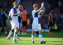 Luke James of Bristol Rovers and Lee Brown of Bristol Rovers claps the rovers fans. - Mandatory by-line: Alex James/JMP - 17/09/2016 - FOOTBALL - Coral Windows Stadium - Bradford, England - Bradford City v Bristol Rovers - Sky Bet League One