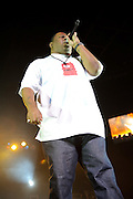 Biz Markie performing on the Legends of Hip Hop Tour at the Chaifetz Arena in St. Louis, Missouri on March 12, 2011.