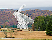 The Green Bank Telescope, near the town of Green Bank, West Virginia, is the world's largest fully steerable radio telescope. The National Radio Astronomy Observatory (NRAO) and Associated Universities, Inc. operate it using funds from the National Science Foundation (NSF).  It is surround by the 13,000 square miles of the only US national Radio Quiet Zone, established in  1958 by the FCC. The observatory contains many other notable telescopes, among them the 140 foot telescope that utilizes an equatorial mount uncommon for radio telescopes, three 85 foot telescopes forming an interferometer array, a 40 foot telescope used by school groups and organizations for small scale research, a fixed radio 'horn' built to observe Cygnus X-1, a bunk house to facilitate these guests, as well as a reproduction of the original antenna built by Karl Jansky while he worked for Bell Labs to detect the interference that was discovered to be previously unknown natural radio waves emitted by the universe.
