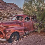 Rusted Chevrolet Fleetline Dusk - Eldorado Canyon - Nelson NV - HDR