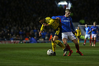 Football - 2019 / 2020 Emirates FA Cup - Fifth Round: Portsmouth vs. Arsenal<br /> <br /> Portsmouth's Ross McCrorie sticks an elbow into the ribs of Pablo Mari of Arsenal during the FA Cup fixture at Fratton Park <br /> <br /> COLORSPORT/SHAUN BOGGUST