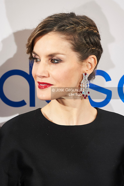 Queen Letizia of Spain attended an event to commemorate the 30th anniversary of the Expansion Newspaper at Palace Hotel on February 7, 2017 in Madrid
