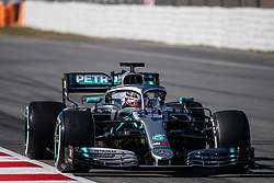 February 26, 2019 - Montmelo, BARCELONA, Spain - BARCELONA, SPAIN, 26th of February 2019. #44 Lewis Hamilton driver of Mercedes AMG during the winter test at Circuit de Barcelona Catalunya. (Credit Image: © AFP7 via ZUMA Wire)