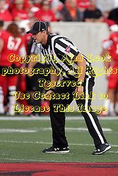 02 September 2017:   Paul Janus leans in to get a complete look during the Butler Bulldogs at  Illinois State Redbirds Football game at Hancock Stadium in Normal IL (Photo by Alan Look)