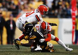 January 1st, 2017: Joe Haden #23 tackles Eli Rogers #17 during the Browns vs Steelers game at Heinz Field in Pittsburgh, PA. Jason Pohuski/CSM(Credit Image: © Jason Pohuski/CSM via ZUMA Wire)