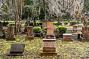 The Christ Church cemetery in St. Simons Island, Georgia. The cemetery surrounds the church and dates to 1803.
