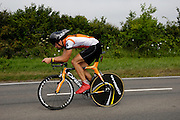 UK, Chelmsford, 28 June 2009: JAMES RUSH (S) C.C.SUDBURY completed the E9 / 25 course in 1 hour 1 min 30 secs. Images from the Chelmer Cycle Club's Open Time Trial Event on the E9 / 25 course. Photo by Peter Horrell / http://peterhorrell.com .
