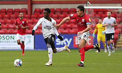 Siriki Dembele of Peterborough United in action with Perry Ng of Crewe Alexandra - Mandatory by-line: Joe Dent/JMP - 14/11/2020 - FOOTBALL - Alexandra Stadium - Crewe, England - Crewe Alexandra v Peterborough United - Sky Bet League One