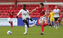 Siriki Dembele of Peterborough United in action with Perry Ng of Crewe Alexandra - Mandatory by-line: Joe Dent/JMP - 14/11/2020 - FOOTBALL - Alexandra Stadium - Crewe, England - Crewe Alexandra v Peterborough United - Sky Bet League One