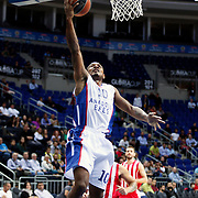 Anadolu Efes's Dontaye Draper during their Gloria Cup Basketball Tournament match Anadolu Efes between Olympiacos at Ulker Sports Arena in istanbul Turkey on Tuesday 23 September 2014. Photo by Aykut AKICI/TURKPIX