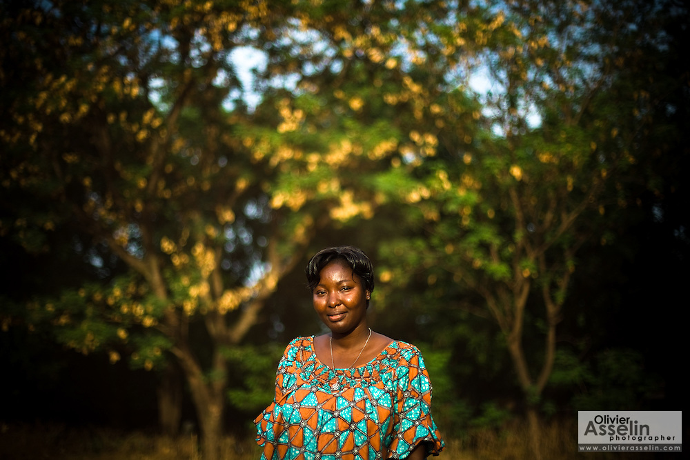 Abibata Sanon, 36, a victim of female genital mutilation who has undergone surgery to have her clitoris restored, poses for a portrait in Bobo-Dioulasso, 365 kilometres west of Burkina Faso's capital Ouagadougou on Monday May 4, 2009. Abibata says the surgery has helped re-establish the balance in her relationship - her boyfriend no longer calls the shots in the bedroom.