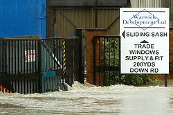Flooding Ecclesfield Sheffield South Yorkshire  - Butterthwaite Lane.25 June 2007.Image COPYRIGHT Paul David Drabble.