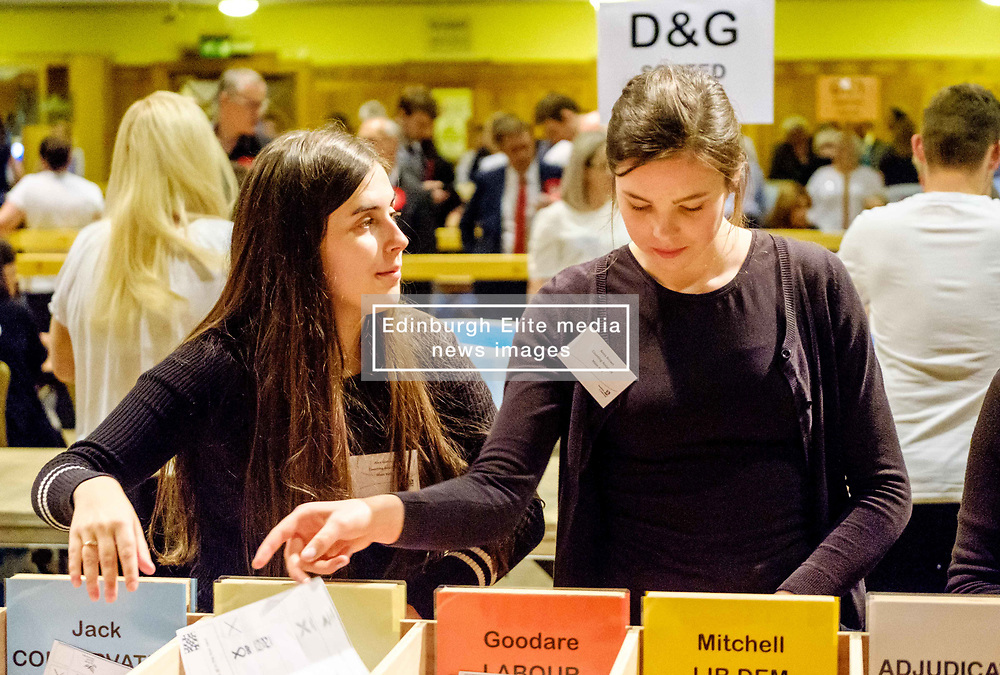 General Election 2017 Dumfries Count :: Final stages of the count in progress<br /> <br /> <br /> (c) Andrew Wilson   Edinburgh Elite media