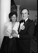 "Reception For ""Sheba"" Ireland's Eurovision Entrants..1981..01.04.1981..04.01.1981..1st April 1981..The Minister for Posts and Telegraphs,Mr Albert Reynolds TD,held a reception in the State Apartments,Dublin Castle on the occasion of the Grand Prix of the Eurovision Song Contest 1981. The contest was being held in Ireland after Johnny Logans win at the Hague in 1980. Ireland's representatives this year are ""Sheba"" singing  ""Horoscopes""...Portrait of Albert and Kathleen Reynolds taken at the Eurovision Reception at Dublin Castle."