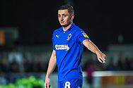 AFC Wimbledon midfielder Anthony Hartigan (8) pointing during the EFL Sky Bet League 1 match between AFC Wimbledon and Peterborough United at the Cherry Red Records Stadium, Kingston, England on 12 March 2019.