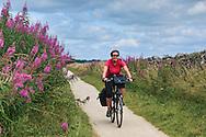 Cyclist on the High Peak Trail