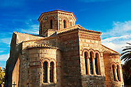 The Byzantine Greek Orthodox Church of  Saints Jason and Sosipater, Anemomylos, Corfu Greek Ionian Islands .<br /> <br /> If you prefer to buy from our ALAMY PHOTO LIBRARY  Collection visit : https://www.alamy.com/portfolio/paul-williams-funkystock/corfugreece.html <br /> <br /> Visit our GREECE PHOTO COLLECTIONS for more photos to download or buy as wall art prints https://funkystock.photoshelter.com/gallery-collection/Pictures-Images-of-Greece-Photos-of-Greek-Historic-Landmark-Sites/C0000w6e8OkknEb8