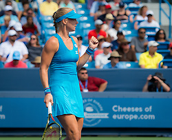 August 19, 2018 - Kiki Bertens of the Netherlands in action during the final of the 2018 Western & Southern Open WTA Premier 5 tennis tournament. Cincinnati, Ohio, USA. August 19th 2018. (Credit Image: © AFP7 via ZUMA Wire)